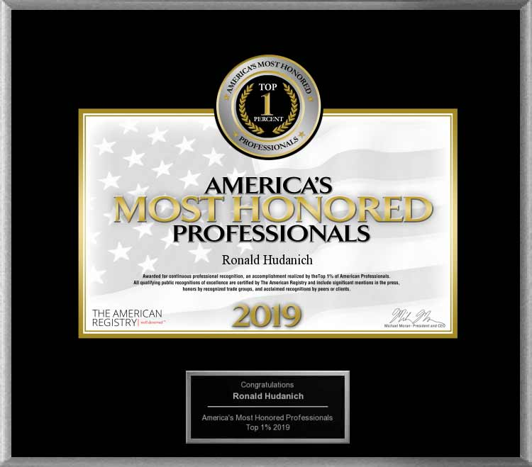 image of 2019 americas most honored professionals, top 1 percent award